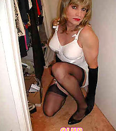 Sexy crossdressers with very hard cocks