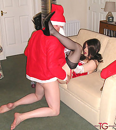 Christmas Kirsty gets fucked hard by a very naughty Santa.